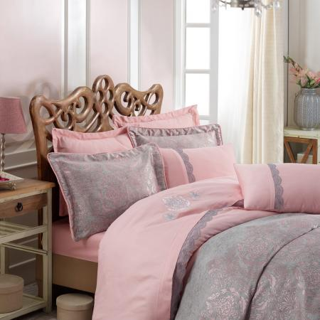 Bed linen and bedspread Platinium Ornella gray