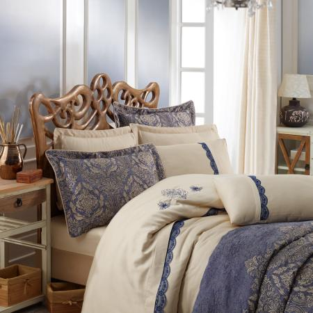 Bed linen and bedspread Platinium Ornella blue