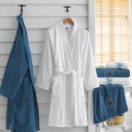 Luxury family bath set White Blue