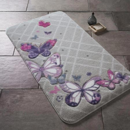 Carpet Butterfly Plaid Purple 57x100