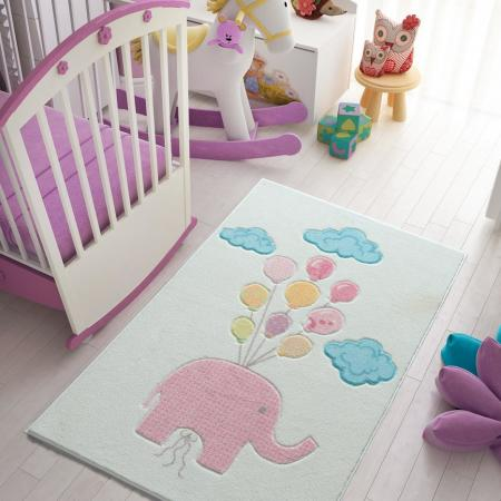 Carpet Cute Elephant Pink 100x150