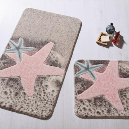 Set Of Rugs Starfish Pink 50x57 57x100