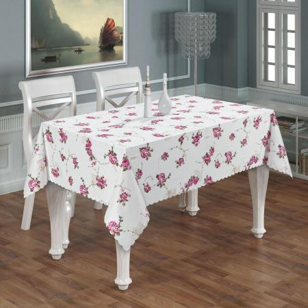 Luxury tablecloth Provence pink Ø150
