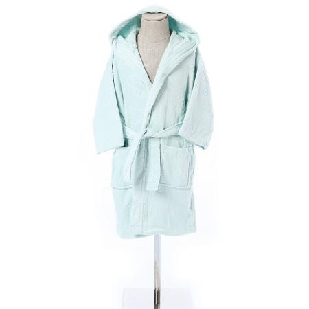 Children bathrobe mint 13-14 years