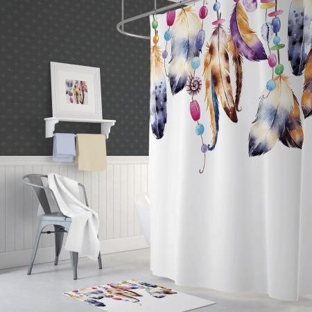 Shower curtain Feathers