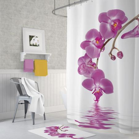 Shower curtain Orchid