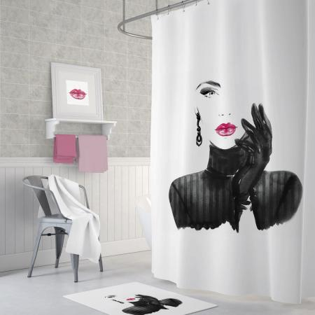 Shower curtain Woman in Black